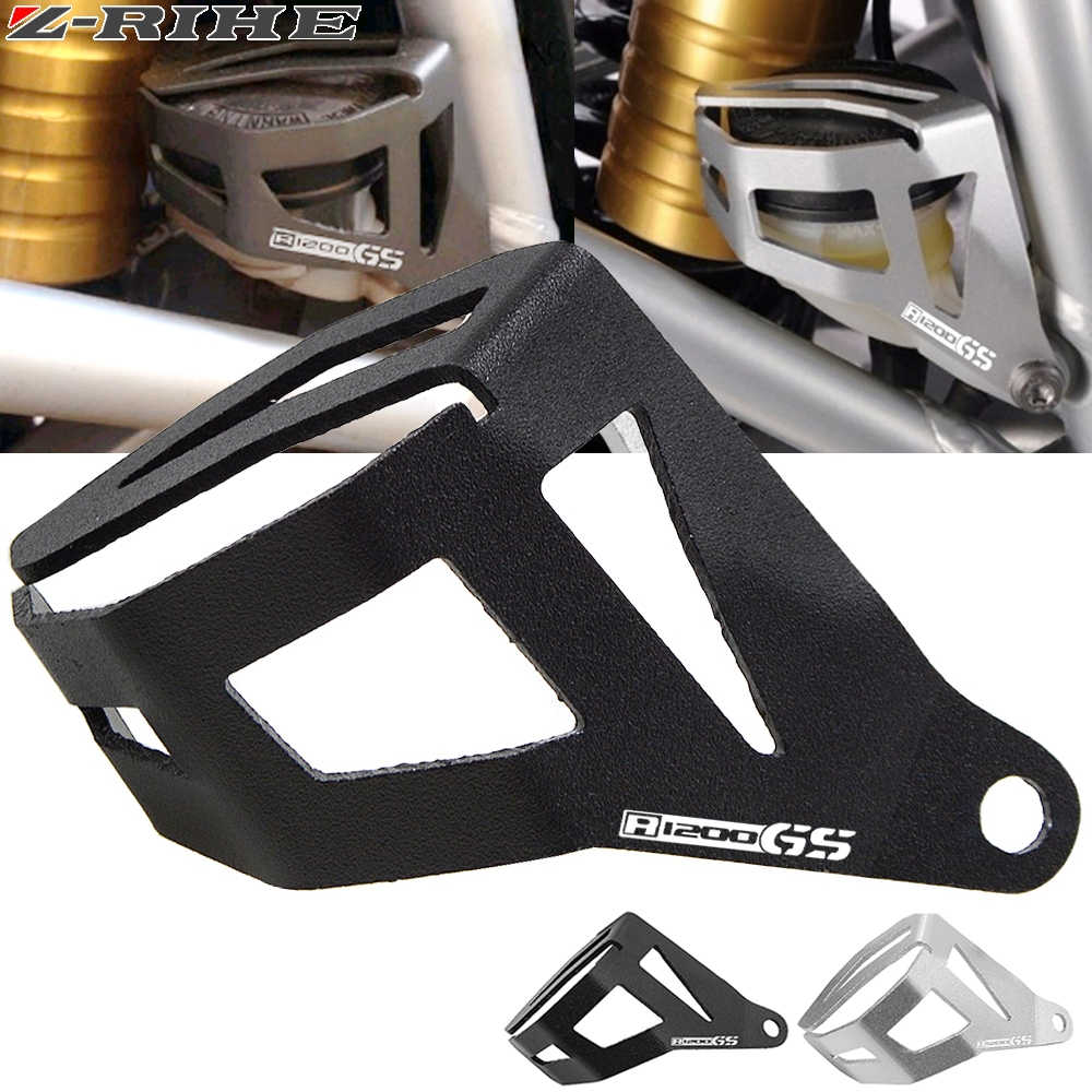 FOR <font><b>BMW</b></font> R 1200 GS LC Adventure 2014-2016 Motorcycle Accessories Rear Brake Fluid Reservoir Guard Cover Protect With Logo <font><b>R1200GS</b></font> image