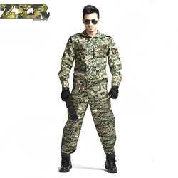 Пейнтбол Тактические камуфляжная военная форма Военная Маскировочная костюм военная Костюмы для охотника и рыбалка рубашка и брюки