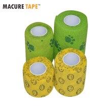 Macure Tape Printed Coban Non woven Self-Adherent Wrap self adhesive Bandage sports tape