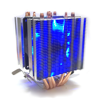 Integrated Accessaries Heatsink CPU Coolers Radiator Thermal 6 Pipes Practical Professional Aluminum Coolling Fan PC For Intel