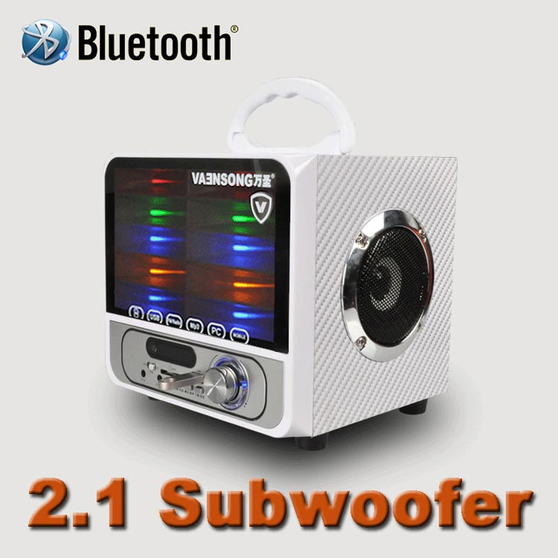 2.1 Subwoofer Wireless Bluetooth portable dual channel stereo speaker support AUX input USB disk and TF card and FM radio lights l 288 portable fm radio stereo speaker mp3 music player double loudspeaker with tf card usb disk input gift for parents