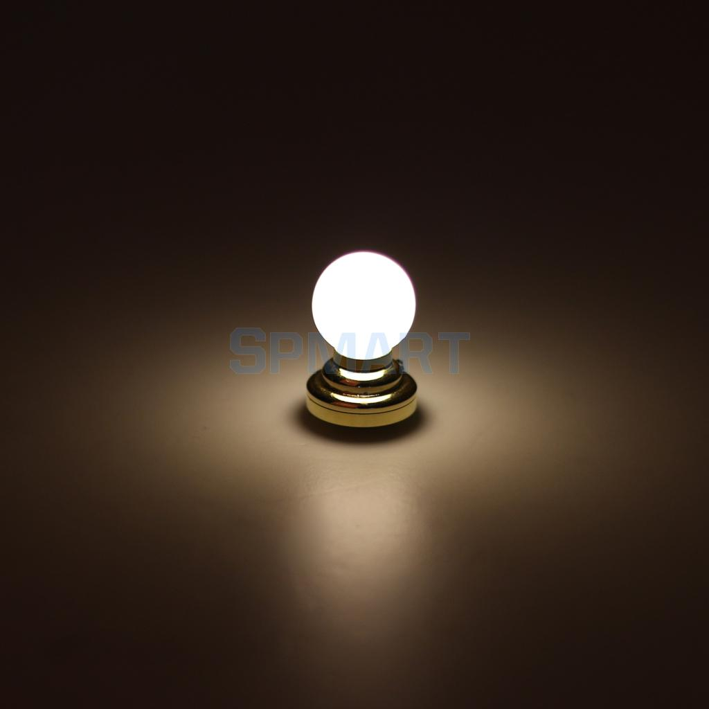 112 Dolls House Miniature Globe White Ceiling Led Light Lighting Dollhouse Wiring Kit Lamp W