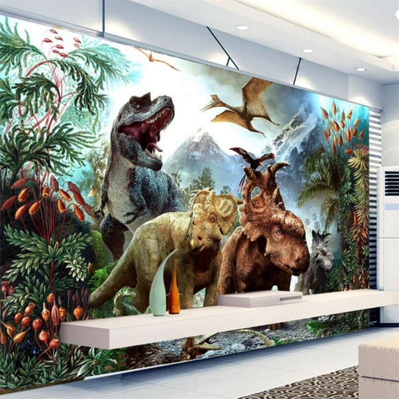 Beibehang Custom Wallpaper Dinosaur Mural Wallpaper Photo 3 D TV Children Room Sitting Room Wallpaper Papel De Parede  Wallpaper