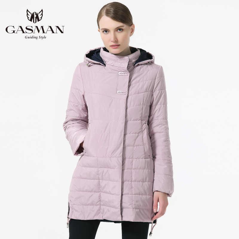 GASMAN 2019 New Spring Women Jacket Thin Fashion Casual Windproof Coat Medium Length Female Hooded Parka Brand Jacket For Women