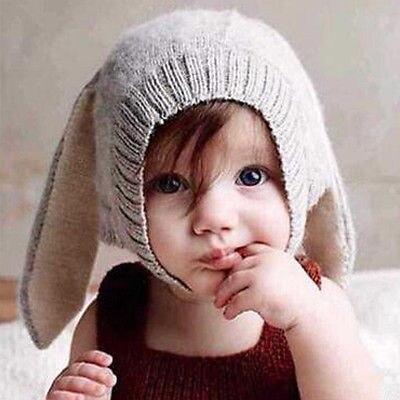 Mignon Bébé Lapin Oreilles Tricot Chapeau Enfant Bébé Hiver Chaud Hat Beanies Cap Casquettes et chapeaux pour bébé