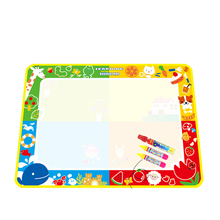 2017 Good Quality 100X73cm Water Drawing Painting Writing Mat Board Magic Pen Doodle New Toy Great Toy for Children Learn Paint