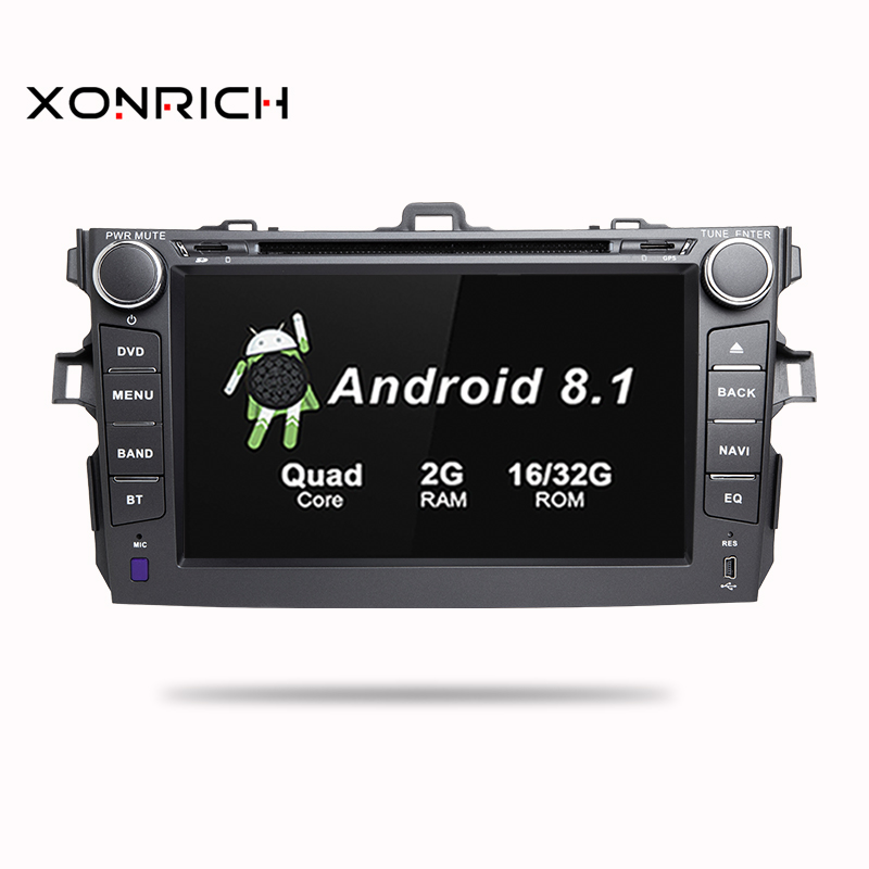 Car Multimedia Player 2 Din Android 8.1 GPS For Toyota Corolla 2007 2008 2009 2010 2011 AutoRadio Stereo Navigation Wifi