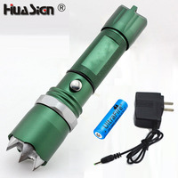 Self Defense Portable Flashlight Q5 Led Flashlights Tactical Defense Torch Emergency Lights With 18650 Battery And