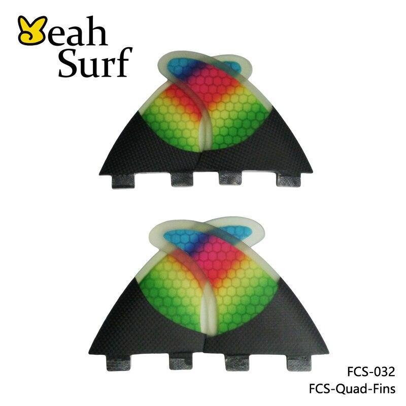 FCS Fins Carbon Fibre Rainbow SUP G5+K2.1 Surfboard Fin Quilhas FCS Quad Fin Set Thruster Honeycomb Future Fin цена 2016