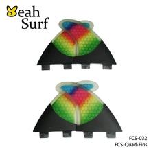 FCS Fins G5 + K2.1 Surfboard Carbon Fiber FCS Quad Set Rainbow Honeycomb Quilhas FCS
