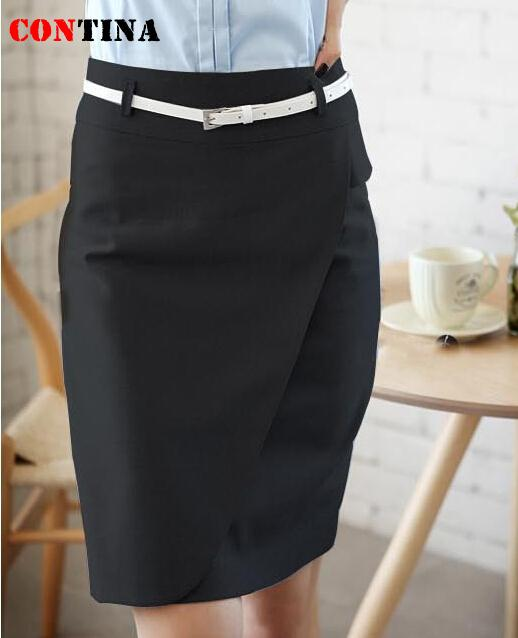 Women Pencil Skirt 4XL Vintage Work Wear Formal Skirt Black Grey ...