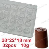 Polycarbonate Chocolate Mould 32 Cups Moldes De Policarbonato Para Chocolates Hollow Chocolate Molds DIY Chocolate Making