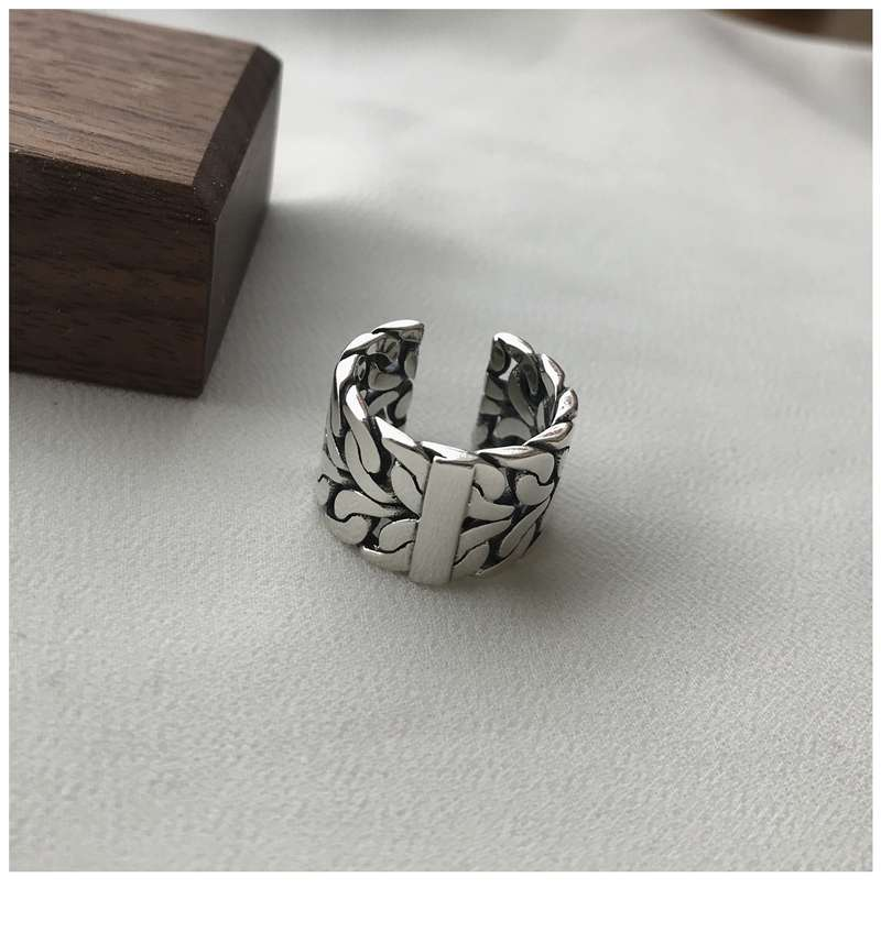 Retro Vintage Silver Color Big Rings for Women Engagement Jewelry Adjustable Finger Rings Anillos 2019 2
