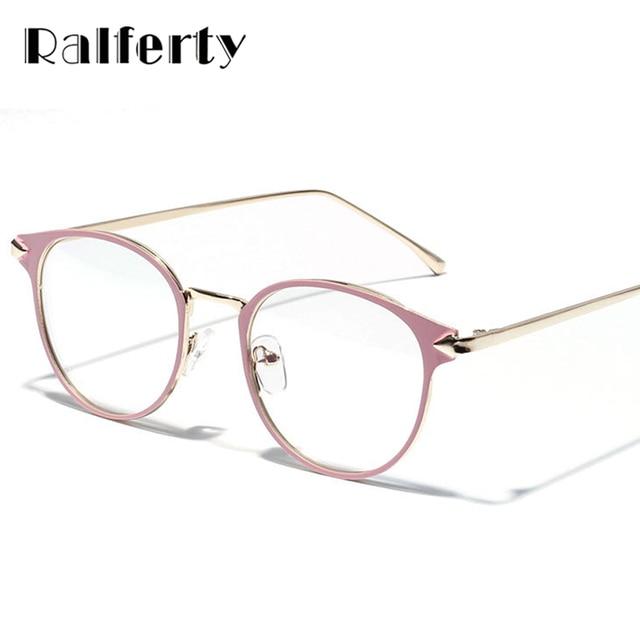 7c7ff567eca91 Ralferty Óculos Mulheres Quadro Miopia Optical Óculos Frames Do Vintage  Óculos Limpar Rosa W3204 espetáculo oculos