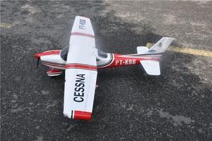 Image 4 - RC מטוס ססנה 182 אדום בלזה עץ קבוע כנף מטוסי ARF