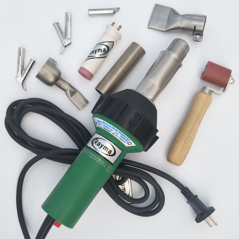 Tools : Rayma brand 230 110V 1600w hot air welder with 9 accessories for PP PVC PE PPR water tanks plating tank sheets tents tarpaulins