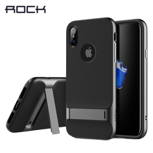 Здесь можно купить  ROCK Hot Phone Case for iPhone X Protective Shell, Royce Series Back Cover Case for iPhone X 5.8inch Coque with kickstand
