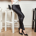 De Dove imitation leather leggings spring and autumn candy colored panty high elastic pants legging women thin section