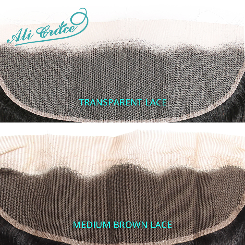 Image 2 - Ali Grace Brazilian Straight 13*4 Lace Frontal Medium Brown/ Transparent Lace Free/Middle Part Frontal 130% Destiny Remy Hair-in Closures from Hair Extensions & Wigs