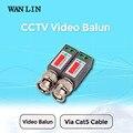 Wan lin 10 unids (5 pairs) cctv twisted bnc video pasivo del balun utp cat5 coaxil cámara cable coaxial cámara dvr