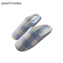 Classic Plaid Spring Women Slippers Home Bedroom Cotton Soft Comfortable Flip Flops Fashion Woman Sandals Casual Shoes