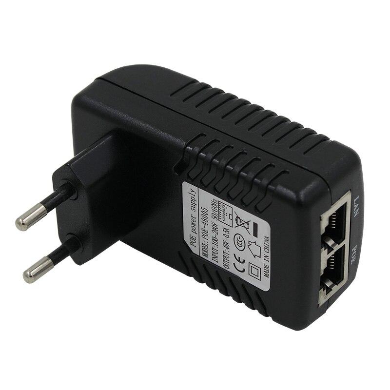 Iniettore POE 48 V 0.5a per telecamera ip Ethernet CCTV POE adattatore POE pin 4/5 (+), 7/8 (-) compatibile con IEEE802.3af