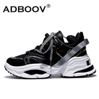 ADBOOV Web Celebrity Sneakers Women Trendy Chunky Dad Shoes Woman Buty Damskie Thick Sole Ladies Platform Shoes Chaussures Femme