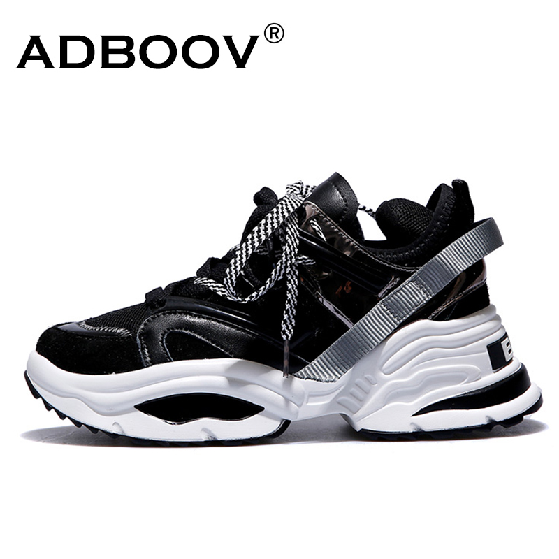 ADBOOV Web Promi Turnschuhe Frauen Trendy Chunky Papa Schuhe Frau Buty Damskie Dicke Sohle Damen Plattform Schuhe Chaussures Femme