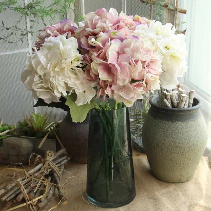 Mesterséges hortenzia Virág esküvői dekorációhoz Európai - Ünnepi és party kellékek