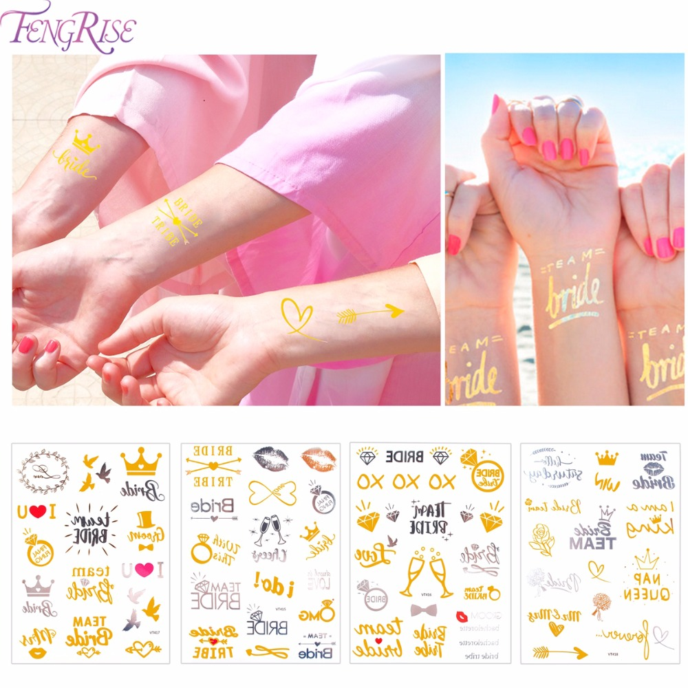 FENGRISE Bride To Be Temporary Tattoo Bridesmaid hens Bachelorette ...