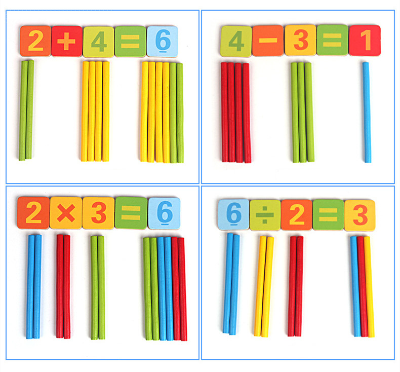 Wooden Counting Sticks Mathematical Rod Gift 100PCS//LOT Baby Education baby Toys