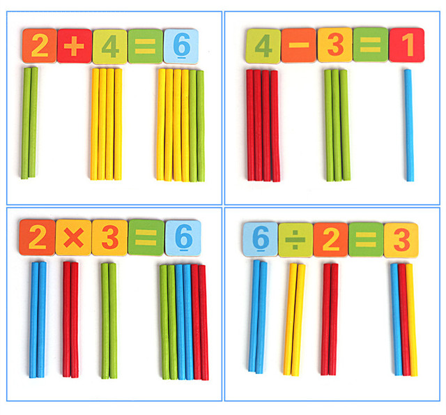 New Arrival Baby Toys Magnetic Iron Box Counting Stick Wooden Toys Educational Arithmetic Rods Math Toys Child Birthday Gift
