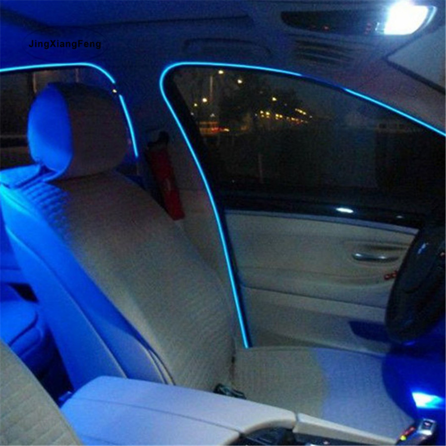 1-5 M Car interior lights 10 color EL Wire Neon Lights Dance Festival led strip car EL lights With 2.3 MM with 6 MM sewing edge