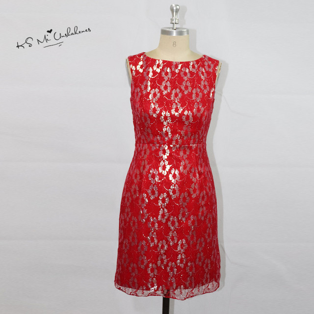 Vestido de Madrinha de Casamento Red Plus Size Mutter der braut ...