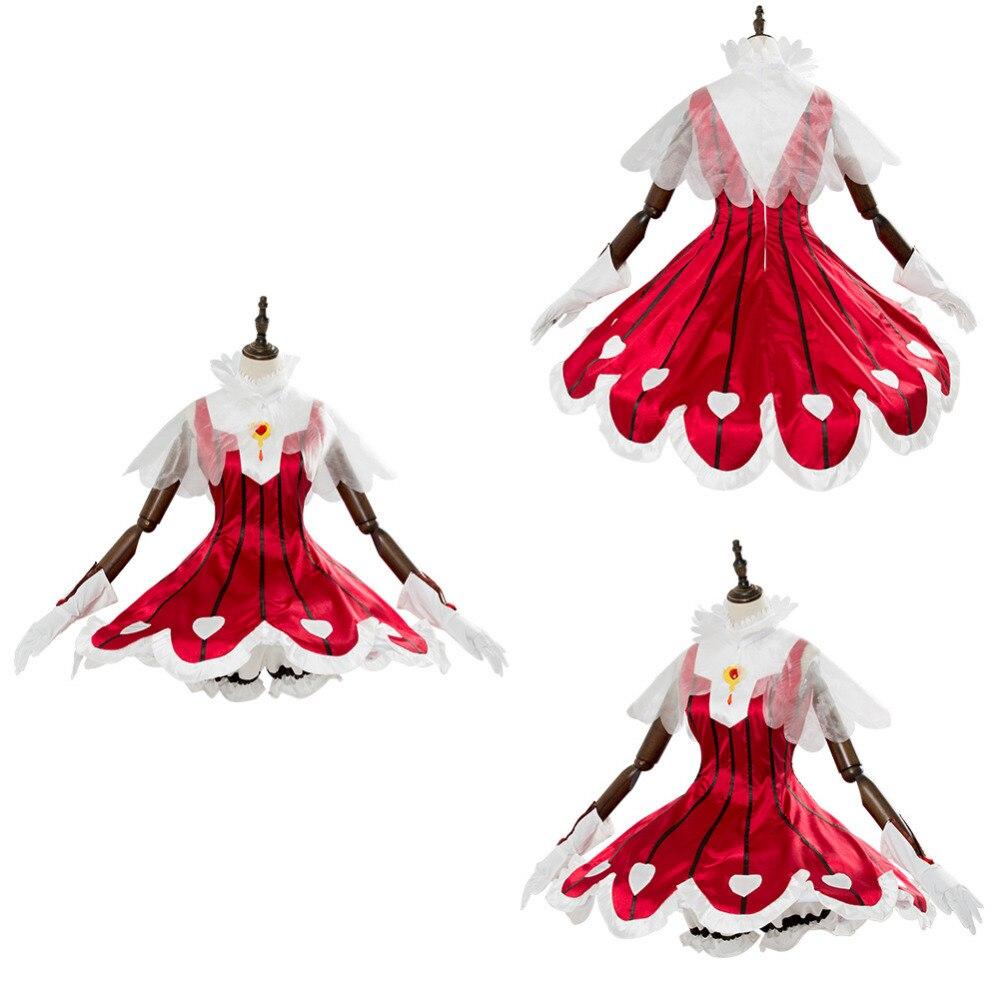 Cardcaptor Sakura Cosplay Costume CCS Clear Card Arc Sakura Rose Heart Rocket Beat Dress Women Girls Halloween Carnival Costumes