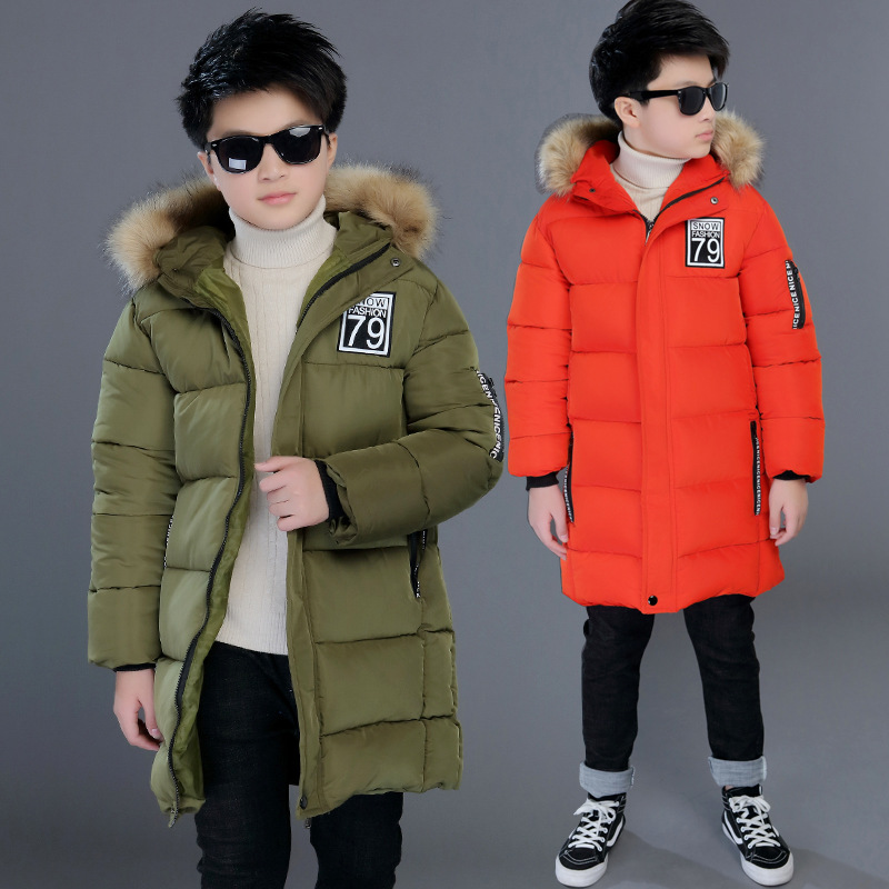 Image 2 - Winter Thicken Windproof Warm Kids Coat Waterproof Children Outerwear Cotton Filler Heavyweight Boys Jackets For 4 14 Years Old-in Down & Parkas from Mother & Kids