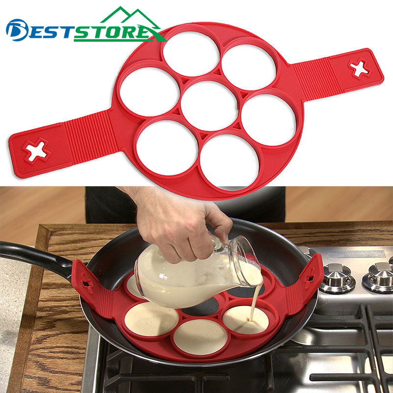 Pancake Maker Egg Ring Maker Nonstick Easy Fantastic Egg Omelette Mold Kitchen Gadgets Cooking Tools Silicone(China)