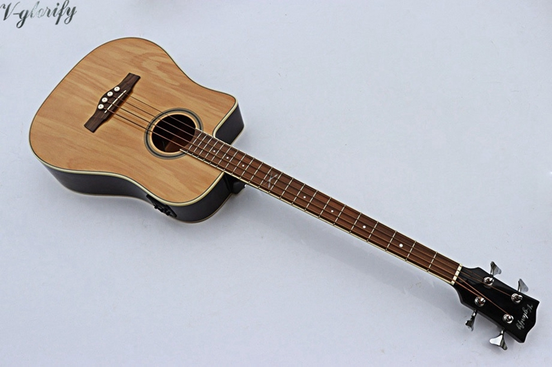 все цены на 2018 new arrival high quality 4 string left hand acoustic bass guitar with EQ