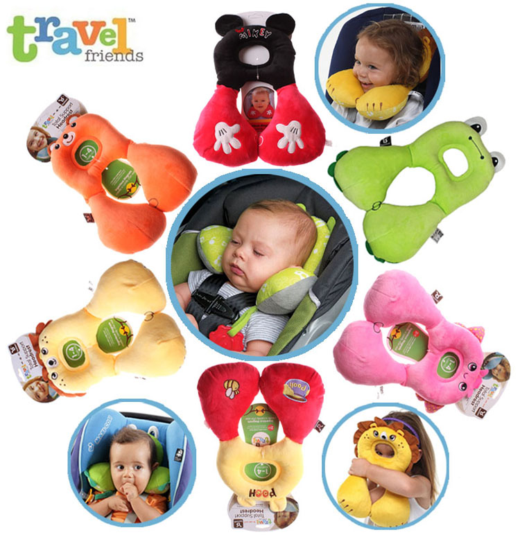 baby soft sleeping safety car seat baby stroller headrest u shaped travel pillow cover kids