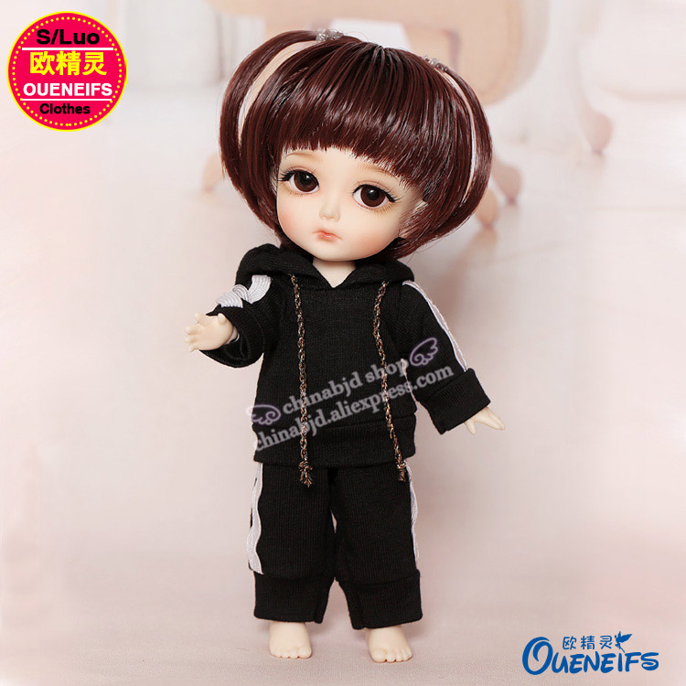 OUENEIFS free shipping,Fashion sports suit with hat,Korean fan sweater jacket,1/8 bjd sd doll clothes,no dolls and wigs YF8-134 1 3 uncle bjd sd doll clothes accessories 4 color bjd hat bowler hat