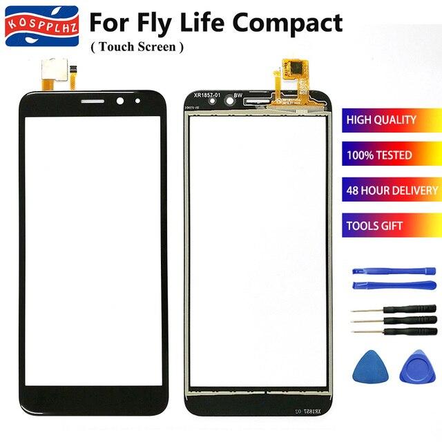 """4.95 """"携帯フライ生活コンパクトタッチスクリーンガラスデジタイザのフロント Fly 生活コンパクト携帯電話 + ツール"""