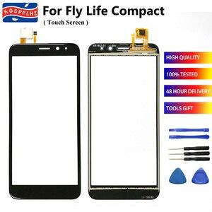 """Image 1 - 4.95 """"écran tactile Mobile pour Fly Life Compact écran tactile verre numériseur avant verre pour Fly Life Compact téléphone portable + outils"""