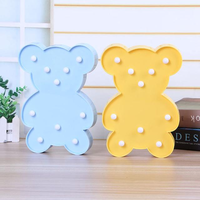 Luminous Cute Teddy Bear Wireless LED Lamp