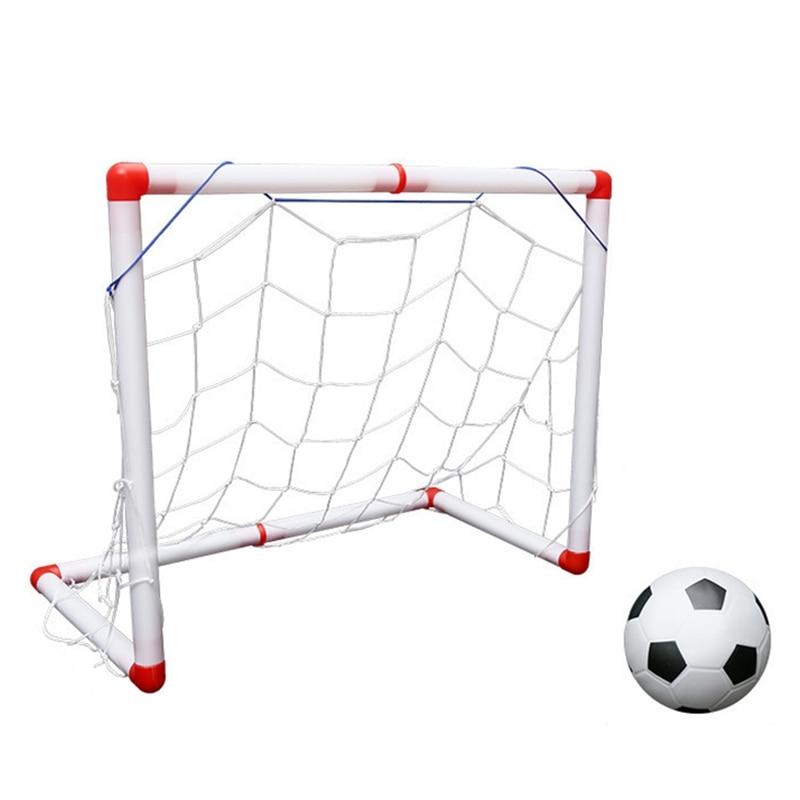 Outdoor/Indoor Kids Sports Soccer Gate Portable Folding Children Football Goal Door Set Ability Developing Toy for Boy Girls