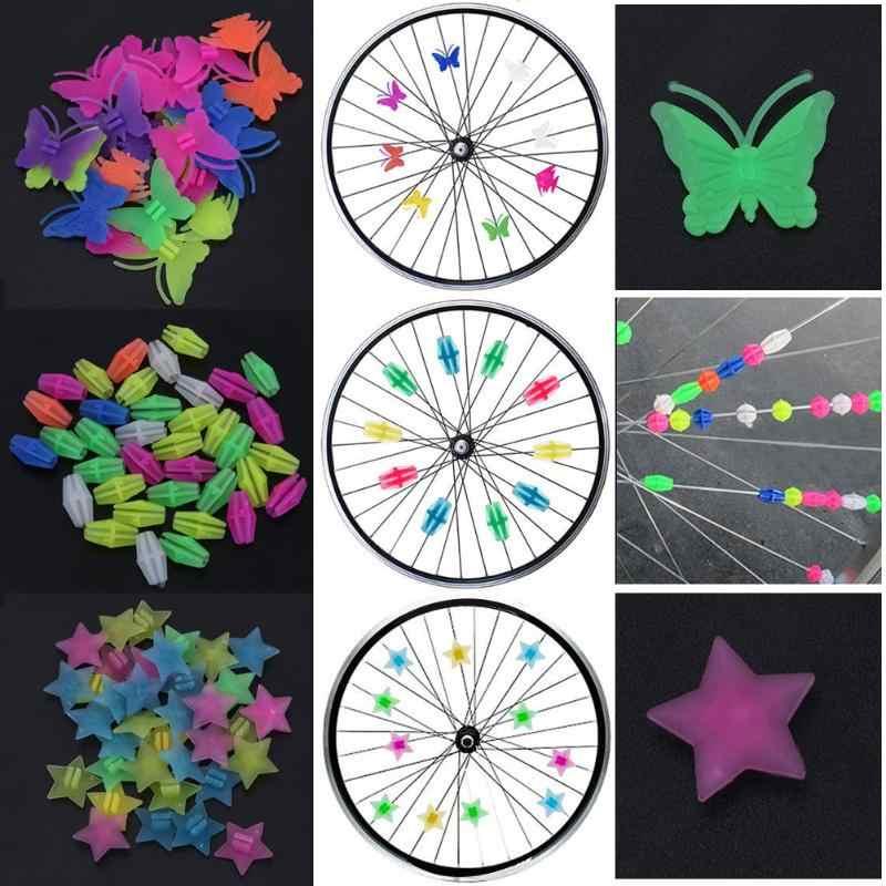1 sac lumineux vélo roue a parlé en plastique coloré Wrap Tubes décor vtt montagne route vélo a parlé cyclisme pièces vélo accessoires