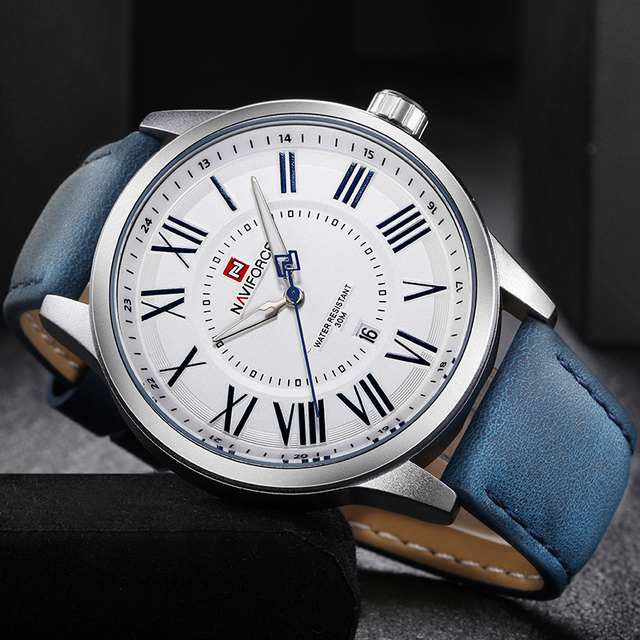 Мужские кварцевые часы в стиле милитари NAVIFORCE