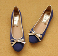 6 Colors Fashion Designer Women's Casual Soft Flat Shoes, Ladies Bow Soft Bottom Ballerina Flats Female Plus Size 34-43