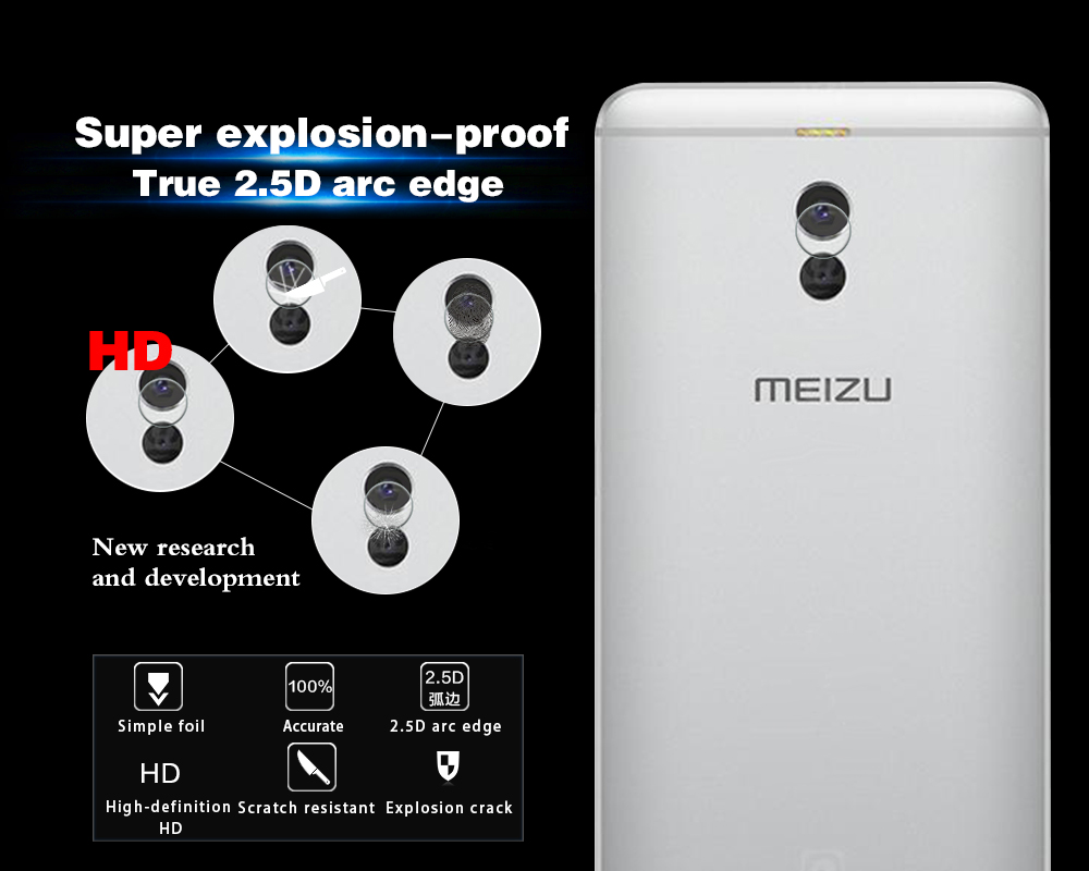 Real Back Camera Lens Tempered Glass Protector Film For Meizu Meilan Note 6 / Meizu M6 note 5.5 Rear Camera Lens Protector Film