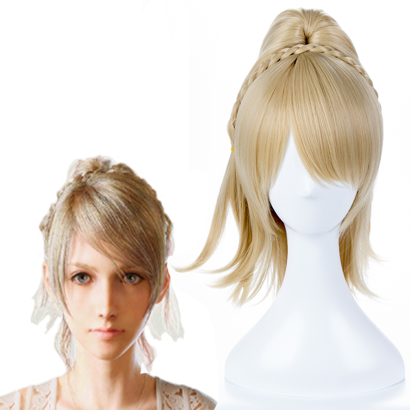 Final Fantasy XV Cosplay Wigs Lunafreya Nox Fleuret Cosplay Wigs Heat Resistant Synthetic Anime Cosplay Wig Halloween Carnival