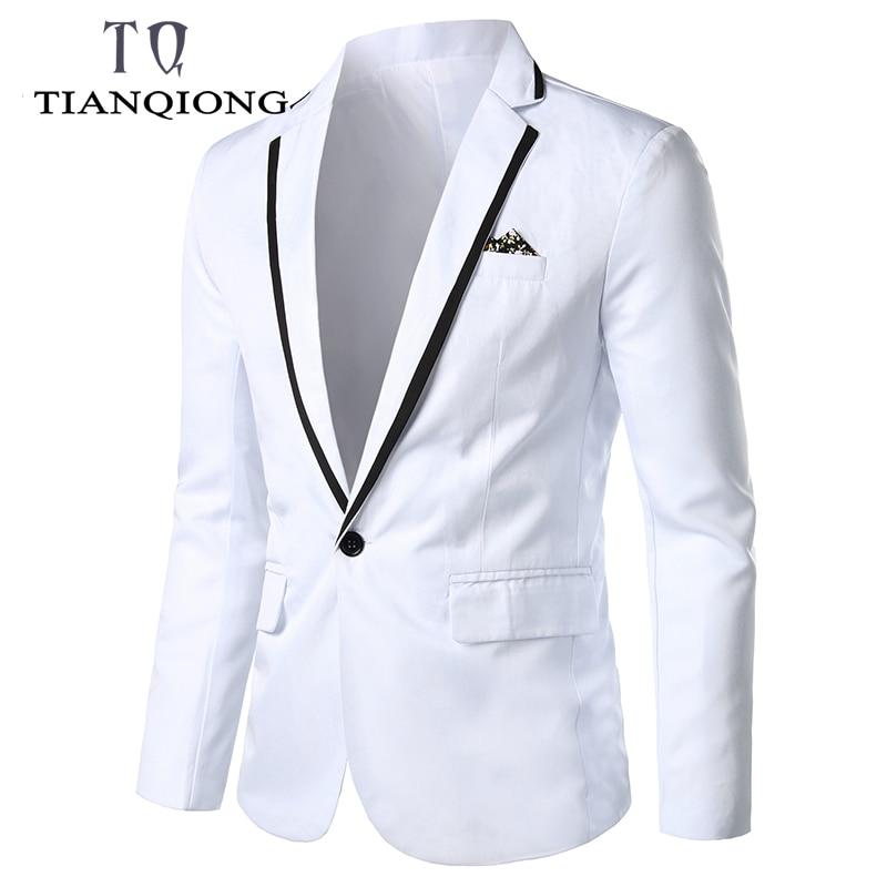 2019 New Arrival Luxury Men Blazer New Spring Fashion Brand High Quality Cotton Slim Fit Men Suit Terno Masculino Blazers Men